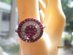 Vintage Designer 2.00ctw Natural Ruby & White Topaz Solid Sterling Silver 925 Rings Size 8, Wt. 4.4 Grams