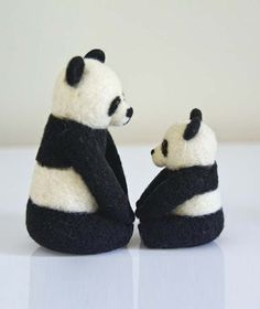 Felted Panda Bear
