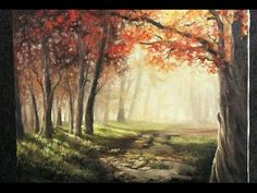 Landscape Painting | Misty Forest Creek | Paint with Kevin Hill - YouTube