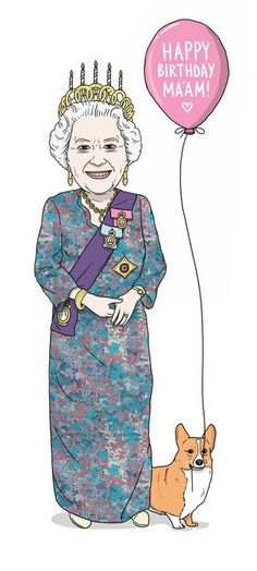 Queen and Corgi...late but still for queen. Happy 90th Her Majesty!!!!