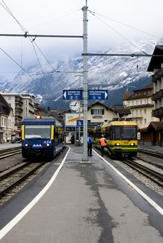 Train in Interlaken, Swizerland