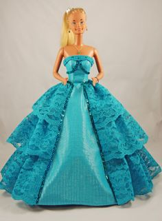 Teal lace Barbie