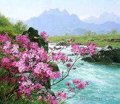 Корейская живопись. Ли Сон Хо – Lee Sung Ho (리성호). КНДР (реализм). Часть 1 из 2