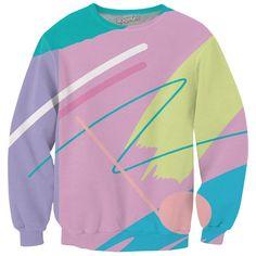 Fresh Paint Crewneck Sweatshirt ($60) ❤ liked on Polyvore featuring tops, hoodies, sweatshirts, neon pink sweatshirt, sweat shirts, pink crewneck sweatshirt, crew-neck sweatshirts and pink top