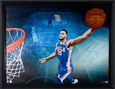 b9744c8eb51 Ben Simmons Philadelphia 76ers Framed Autographed 52