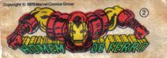 Homem de Ferro - Essa é uma coleção de 36 figurinhas dos Super-Heróis da Marvel, do chiclete Ping-Pong, lançadas em 1979, as quais colecionei todas e colei na cômoda do quarto, como todo mundo fez.