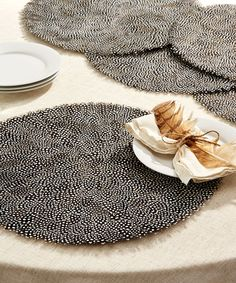 Guinea Feather Placemats - Set of 6