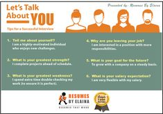Here are the top 6 questions an employer may ask you during a job interview. and what you can say to ACE that next job! Let Them Talk, Let It Be, Common Interview Questions, Resume Writer, Thing 1, Cover Letter For Resume, Professional Resume, Sales And Marketing, Business Names
