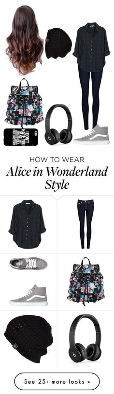"""School"" by magcon1d on Polyvore featuring rag & bone/JEAN, Xirena, Vans, Disney, Beats by Dr. Dre and UGG Australia"