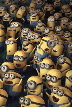 Minions from Despicable Me.....Lots of Minions!!!!!   :)
