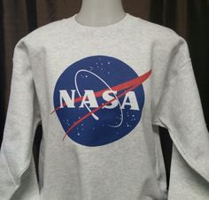 NASA Frikadelle Raum Asche-farbigen Sweat-Shirt