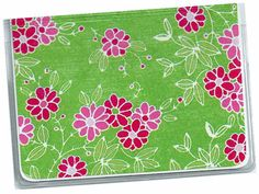 Mini Wallet Credit Card Case  Preppy Pink by rabbitholeonline, $4.25