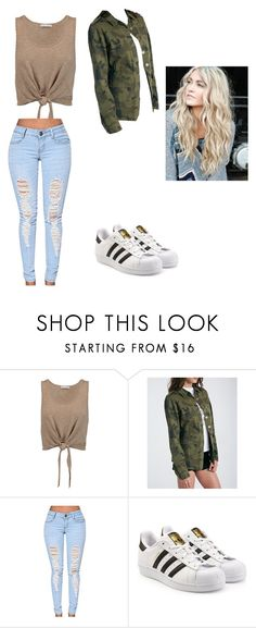 """Baddie Outfit// 13"" by steffanycruzz ❤ liked on Polyvore featuring Alice + Olivia and adidas Originals"