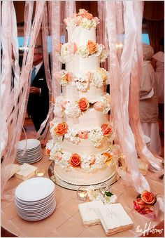 6 tiers with flowers in between - Photo by Jason