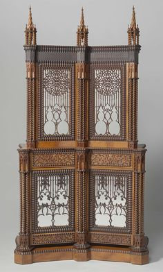Silver cabinet, Jan Adolf Hillebrand, 1844 - The young cabinetmaker Jan Hillebrand displayed this Gothic Revival cabinet as a showpiece at the 1844 exhibition of decorative arts in Leeuwarden. His ambition was rewarded, for the cabinet was purchased by King William II, who had become a fan of the Gothic Revival style while studying in England.