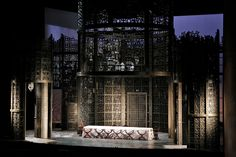 Set model shot of the Marriage of Figaro at the Met Opera, 2014. Set by Rob Howell, lighting by Paule Constable.More photos: http://livedesignonline.com/theatre/rob-howells-costume-designs-and-set-models-marriage-figaro