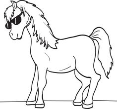7 Best Horse Coloring Pages Images On Pinterest Horse Coloring