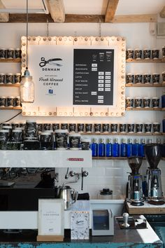 denham service shop and coffee bar // amsterdam