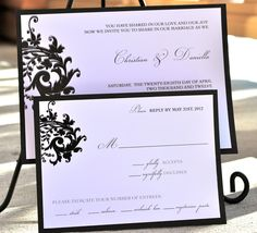 DANIELLA Wedding invitation set  printed set of 50 by BlushNotes