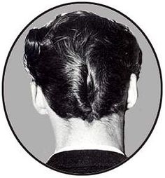 "The, ""DA"" haircut was popular in the mid 1950's."