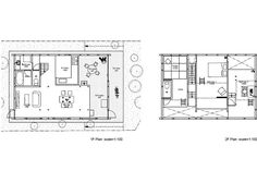 Plan of House H by Hiroyuki Shinozaki Architects, in Matsudo (Tokyo). The house might appear as one, big, open space, but it's actually splitted in different areas, located on different levels