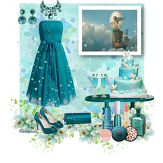 """The Colors: Bondi Blue"" by fiordiluna on Polyvore"