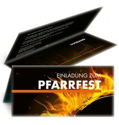 Pfarrfest Einladungskarte mit Falz Oben. #einladungskarte #einladungen #pfarrfest