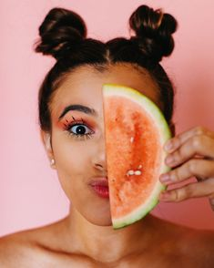 Photography WATAMELAAAAAWWNNN🍉 What's your favourite fruit?🍎🍊🍋🍓🍇🍉🍌🍒🍑🍍 PS My tongue is blue because I was eating an airhead before we took this photo l. Creative Portrait Photography, Fruit Photography, Creative Portraits, Editorial Photography, Fruits Photos, Fruit Picture, Insta Photo Ideas, Photoshoot, Happy Fruit