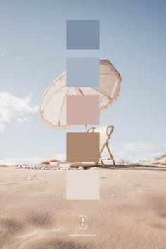 Beach Color Palettes, Color Schemes Colour Palettes, Earthy Color Palette, Neutral Colour Palette, Website Color Palette, Powder Blue Color, Pink Photography, Branding, Illustration