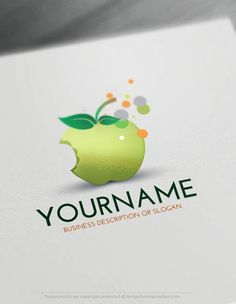 Create a Logo Free - Apple Logo Template Ready made Online logo template Decorated with an image of an Apple. This professional food logos excellent for branding Catering, Dietitian, health food products, slimming products etc.How to create a logo online? 1- Customize This logo with our free logo maker tool - Change you company name, slogan, colors & fonts. 2- Like your design? Buy