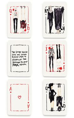 Limited Edition Blue Logan Punk Playing Cards by Blue Logan Now Available on Moda Operandi