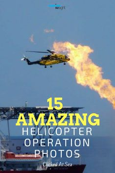 Helicopter operations on ships involves the task of transfer of pilots to and from ships or evacuation of person during medical emergencies. These tasks are conducted with high standards of safety and operational awareness. We have listed below the best 15 helicopter operation images published on Marine Insight Facebook Page .