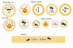 Kit digital Abelhinha - para imprimir - Charme Papeteria #abelhinha #festaabelha #abelha #amarelo #kitfestadigital #kitfestaabelhinha