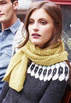 1411: Modell 11 Skjerf #alpakka #strikk #knit