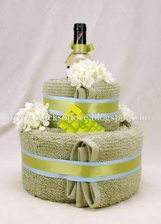Towel Cake date night