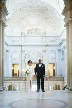 San Francisco City Hall Wedding #Wedding #Photography #SanFrancisco #CityHall #CA #Elegant #WeddingDressIdeas #LongsleeveWeddingDress #Timeless
