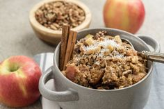 This baked oatmeal recipe is the perfect way to start your day. The steel cut oats give it a hearty texture, and the spices create a well-rounded flavor.