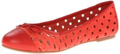 Delman Womens Starr Ballet FlatCoral Perforated SheepskinNappa9 M US ** Learn more by visiting the affiliate link Amazon.com on image.