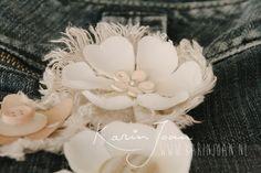No sew Flower Broches diy VIDEO tutorial by Karin Joan: Bloemen Broches maken zonder naald en draad!