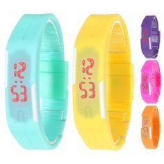 2016 Новая Мода Мужчины Женщины Резина LED Часы Дата Спортивные Браслет Цифровые Наручные Часы 5 Цветов купить на AliExpress