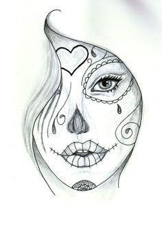 Dessin Tatouage Femme Noir Et Blanc Kolorisse Developpement