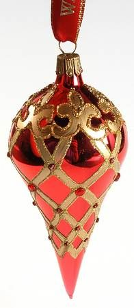 Waterford Holiday Heirloom Ornaments Ruby Spire - With Box
