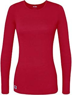 609a0546 Sivvan Women's Comfort Long Sleeve T-Shirt/Under scrub Tee 65% Polyester 35