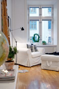 the lamp, i will never be the kind of person who can have white furniture