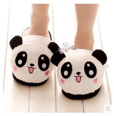 Cheap slippers panda, Buy Quality panda slippers directly from China adult funny slippers Suppliers: Millffy plush panda animal big head lovely plush slipper adult funny slippers panda slippers Niedlicher Panda, Cartoon Panda, Cute Panda, Panda Bears, Funny Slippers, Women's Slippers, Pokemon Plush, Cotton Pads, Plush Dolls
