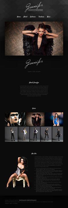 Jennifer is a new #Model #WordPress #Theme. Jennifer has a modern dark design & is 100% responsive.