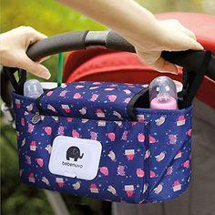 Kinderwagen Organizer Unverzichtbares Kinderwagen-Zubeh/ör Aufbewahrungstasche Universale Baby Kinderwagentasche mit Rei/ßverschluss Stil 2/_ Pink + Quaste