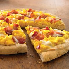 "Bacon and Egg Breakfast Pizza Recipe. ""Here's a fun twist on pizza so you'. - Bacon and Egg Breakfast Pizza Recipe… ""Here's a fun twist on pizza so you'll feel ok having - Sausage Breakfast, Breakfast Dishes, Breakfast Casserole, Breakfast Recipes, Figs Breakfast, Mexican Breakfast, Breakfast Sandwiches, Breakfast Ideas, Ww Recipes"