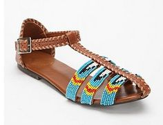 i have these, got them at urban outfitters on sale for 10 bucks! Beaded Shoes, Beaded Sandals, Boho Sandals, Summer Sandals, Cute Shoes, Me Too Shoes, Awesome Shoes, Pretty Shoes, Looks Style