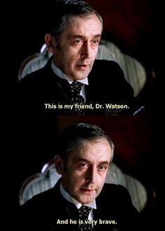Vasily Livanov as Sherlock Holmes.